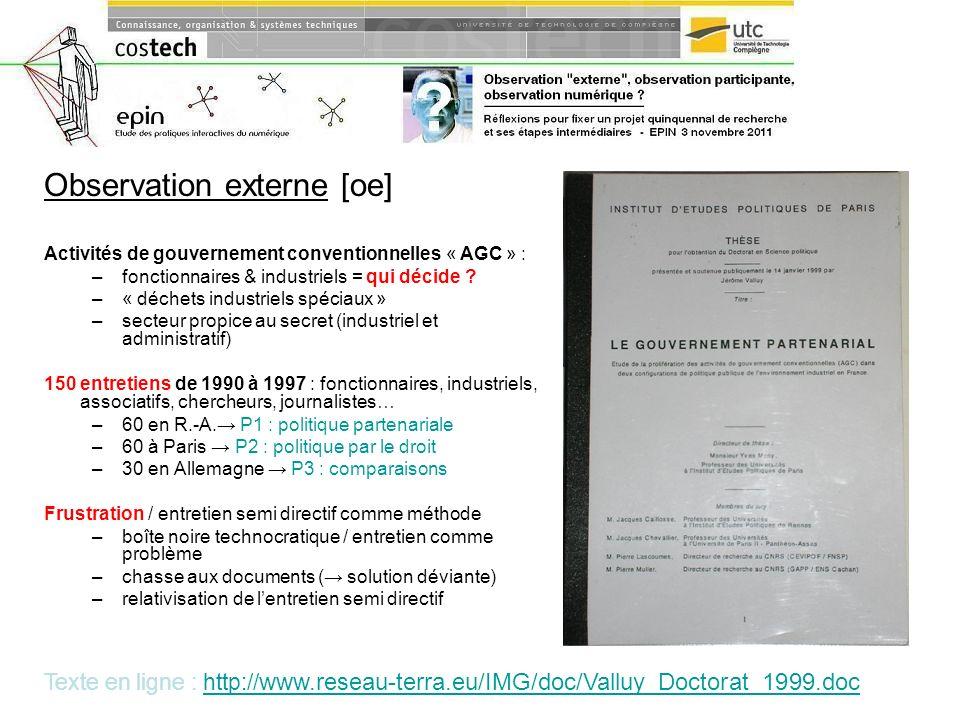 Observation externe [oe]